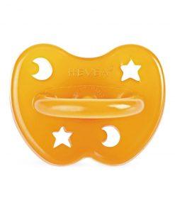 HEVEA anatomický dudlík Star and Moon design, přírodní kaučuk