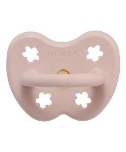 HEVEA anatomický dudlík Powder pink design, přírodní kaučuk – 0-3 m