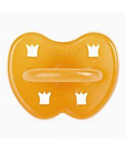 HEVEA kulatý dudlík Crown design, přírodní kaučuk