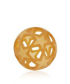 HEVEA hračka Star ball, přírodní kaučuk, natural barva