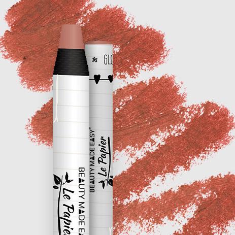 Přírodní rtěnka v papírovém obalu Le Papier, lesklý, 6g – Dusty Rose