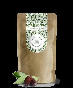 MARK coffee peeling na obličej, 80g – Nougat Tea tree & jojobový olej