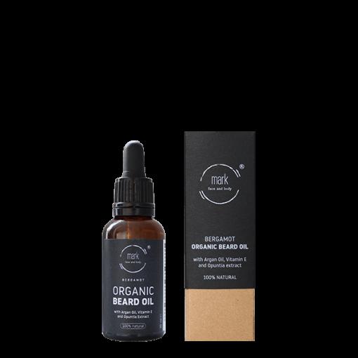 MARK organic beard oil, 30 ml – ošetřující olej na bradu a vousy